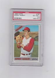 1966 Indians Sonny Siebert Topps 197 baseball card graded | Etsy