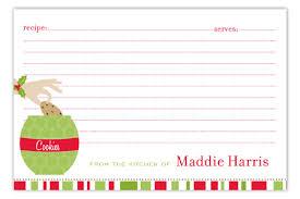 Christmas Recipe Card Christmas Cookie Jar Recipe Card