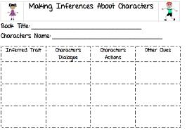 Character T Chart Evidence Third Grade Treasures Making
