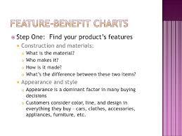 Product Feature Benefit Chart Marketing Obj 2 07 B