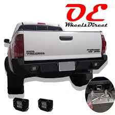 Toyota Tacoma 05-15 Rear Bumper (All Models) LED Holes Offroad ...