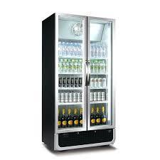 fridge with glass door husky 2 door upright black commercial energy saving pub bar fridge husky