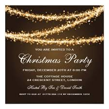 Company Christmas Party Invite Template Elegant Winter Party Invitation Template With Gold String Lights And