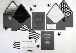 Halloween Wedding Invitations Silver Foiled Halloween Wedding Invitations Etsy
