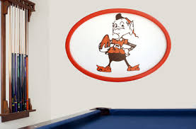 on cleveland browns wall art with cleveland browns 3d logo wall art