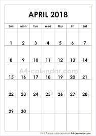 windows printable calendar 2018 printable april 2018 a4 calendar blank editable calendar 2018