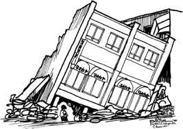 Earthquake clipart black and white. Earthquake Flashcards