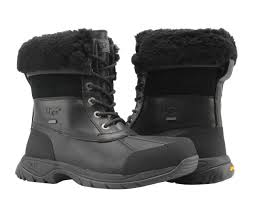 ugg australia e black waterproof leather men s winter boots 5521 blk