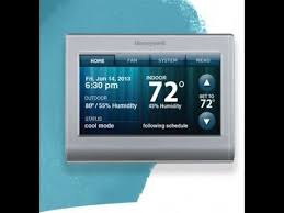 honeywell wi fi thermostat rth9580wf install part 1