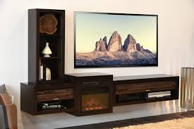 Floating Tv Stand Floating Tv Stand With Fireplace Eco Geo Espresso Woodwaves