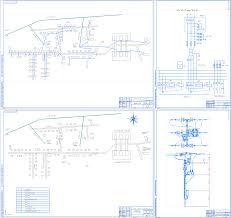 Курсовые и дипломные проекты по электроснабжению Чертежи РУ Дипломный проект Реконструкция системы электроснабжения населенного пункта Ново Кычино