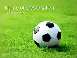 Soccer Ball On Grass Powerpoint Template Backgrounds Google