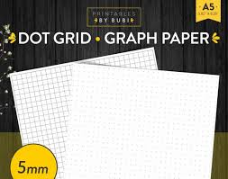 Printable Grid Paper Template Custom Printable Graph Paper Bullet Journal Dot Grid Paper 48mm BUJO Etsy