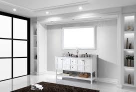 virtu usa winterfell 60 bathroom vanity cabinet in white