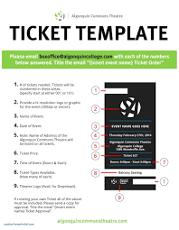 Printable Movie Ticket Template Template Fundraising Ticket Template