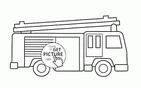Small Picture Simple Fire Truck coloring page for kids transportation coloring