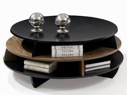 round wooden coffee table