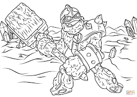 Skylanders Giants Crusher Coloring Page Free Printable Coloring Pages