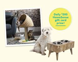 homesense paw some pet win 1 of 14 gift cards valu giveawayca