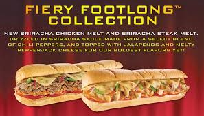 subway menu 2013. Delighful Menu News Subway Introduces Sriracha To The Menu With Two New Subs In 2013
