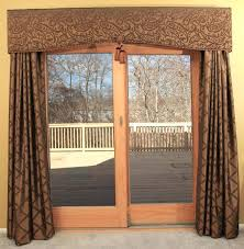 double door curtains decoration in patio sliding glass doors with white wooden frame combined long remodel