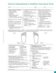 Diabetic Foot Exam Chart Feet For A Life Time