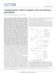 Organic Vs Conventional Foods Chart Pdf Comparing The Yields Of Organic And Conventional