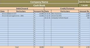 Petty Cash Log Book Download Simple Cash Book Excel Template Exceldatapro