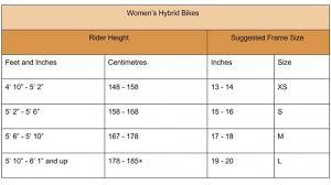 Bicycle Frame Size Chart Hybrid Specialized Road Bike Size Chart Www Bedowntowndaytona Com