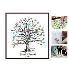 Template Tree Amazon Com Poitemsis Fingerprint Family Members Tree Canvas