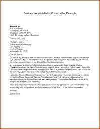 Business Administration Cover Letter The Letter Sample