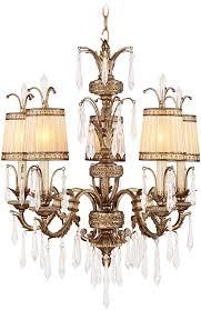 livex 8805 65 la bella hand painted vintage gold leaf chandelier lighting loading zoom