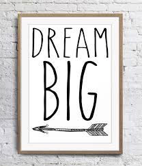 2019 motivational inspirational es dream big arrow art poster wall decor pictures art print poster unframe 16 24 36 47 inches from kapalian