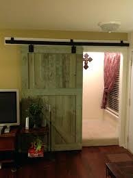 rustic sliding barn doors interior door for home in green