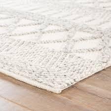 jaipur living sandhurst handmade geometric gray white area rug scandinavian area rugs by jaipur living