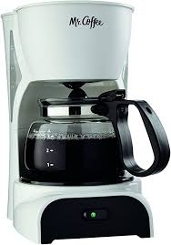 With this awesome coffee maker. Amazon Com Mr Coffee 4 Cup Coffee Maker White Dr4 Rb Drip Coffeemakers Kitchen Dining