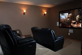home theater room mediterranean home theater milwaukee by