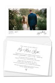 Wedding Announcement Photo Cards 7 Gorgeous Wedding Announcement Cards And Elopement Invitation Ideas