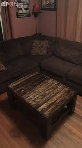 rough finished chunky pallet coffee table1