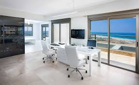 person home office. two person computer desk home office contemporary with balcony ceiling lighting coastal