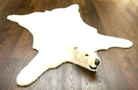 faux skin rug bear fur rugs with head fake polar cost medium size of unique large faux skin rug