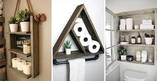 25 bathroom wall shelves decorative