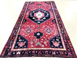 pink and navy rug oriental nomadic tribal hand knotted wool salmon red rana hooked area cw runner