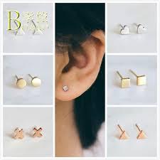 2019 <b>BOAKO</b> Small <b>Earrings</b> For Women <b>Stainless Steel Earring</b> Girl ...