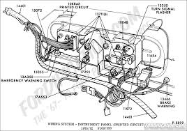 ford truck technical drawings and schematics section i wiring system instrument panel and flasher signal printed circuit