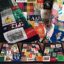 T-Shirt Quilt Stories - Minnesota T-Shirt Quilts & Three Colorful quilts made out of a mix of a mothers t-shirts, blouses and  dresses. A way to keep a loved ones thoughts close and warm to your heart. Adamdwight.com