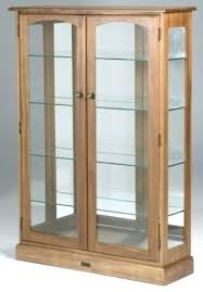 wooden display cabinets with glass doors small