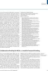 collaborative funding for ncds a model of research funding the  first page of article