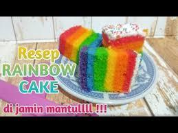 Kue kukus apa saja nih yang bisa kamu buat tanpa mixer? Resep Rainbow Cake Kukus 6 Telur