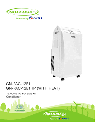 soleus air 12 user manual 16 pages also for 000 btu portable air conditioner gm pac 12e1